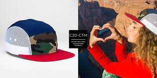 c20-CTM // <b>5 Panel</b> Trucker - Cotton Twill & Mesh // Custom ...