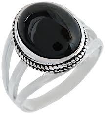 Купить Серебряный Дом <b>Кольцо с ониксами из</b> серебра 61087 ...