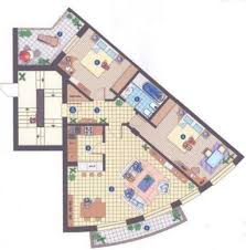 the furniture layout is a beautiful two bedroom apartment for rental situated in sao apartment furniture layout