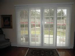 large sliding patio doors: awesome blinds for sliding glass doors in calm wall on sleeky wooden