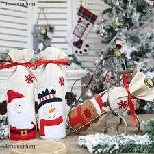 <b>Sequins Christmas</b> Decoration <b>Snowman</b>/<b>Santa</b> Claus Red <b>Wine</b> ...