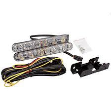 Car drl turn signal light white turn <b>yellow</b> Aluminum Warning Driving ...