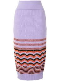 Shop purple Coohem <b>retro wave</b> knit skirt with Express Delivery ...