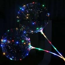 Прозрачный светящийся воздушный шар c палочкой и led ...