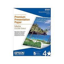 """<b>Epson</b>® <b>Double Sided</b> Premium Presentation <b>Paper</b> White 8 1/2"""" x ..."""