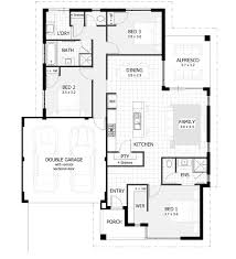 Bedroom House Plans  Home Designs Celebration Homes - Two bedroomed house plans