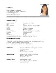 format simple resume format sample smart simple resume format sample