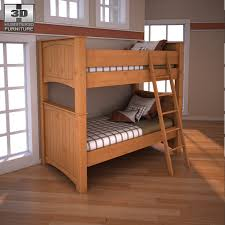 ashley stages twin bunk bed 3docean item for sale ashley unique furniture bunk beds