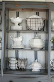 ideas china hutch decor pinterest: add interest to your hutch by painting a grain sack stripe on the back hutch decorating ideasdecorating china