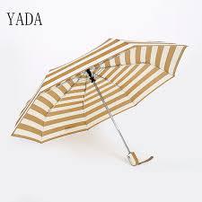 2019 <b>YADA</b> Blue & Yellow Stripe Folding <b>Charms</b> Umbrella Rain ...