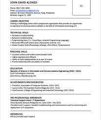 resume example jobstreet cipanewsletter sample resume format for fresh graduates one page format