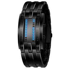 LED Sport Watch Luxury Men's Stainless Steel Date ... - Amazon.com