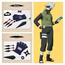 anime naruto kakashi konoha symbol half finger leather gloves winter warm handschoenen christmas gifts