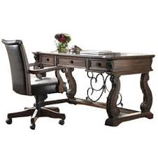 alymere rustic brown home office 2pc set alymere home office desk