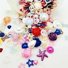 CNCRAFT <b>50PCS</b>/<b>lot Random Mix</b> Design <b>Mix Color</b> Flower flat ...