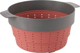 <b>Дуршлаг</b>-<b>пароварка</b> BergHOFF, 3950152, красный, диаметр 24 см ...