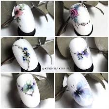 <b>Watercolour</b> flowers <b>nail</b> art <b>Nail</b> blog Ярославы Быковой ...