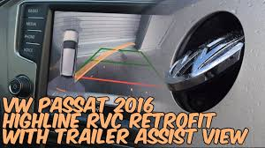 VW Passat 2016 (3C) <b>Highline</b> Reversing Camera Retrofit - YouTube
