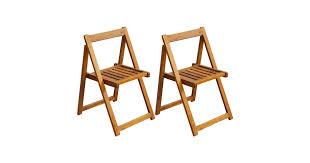 Folding <b>Garden Chairs 2 pcs</b> Solid Acacia Wood - Matt Blatt