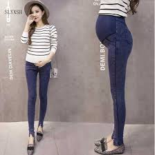 SLYXSH Elastic Waist Maternity Jeans Pants for <b>Pregnancy Clothes</b> ...