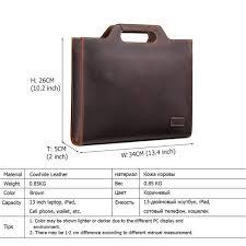 Online Shop New Genuine <b>Leather Men's</b> Handbags <b>Retro Crazy</b> ...
