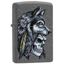 <b>Зажигалка ZIPPO Wolf Skull</b> Iron Stone