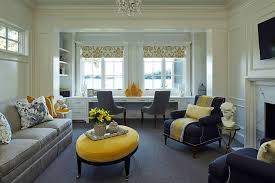 use of lovely vases decor and throw pillows can add yellow to the home office add home office