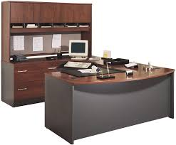 u shaped desks bush furniture bow front u shaped desk with hutch bush desk hutch office