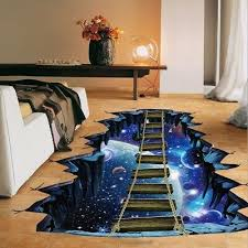 <b>3D</b> Illusion <b>Large Cosmic</b> Galaxy Space Sticker Decals Wall and ...