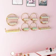 Household items Nail Polish <b>Display</b> Rack, Metal <b>Wall</b>-Mounted <b>Five</b> ...