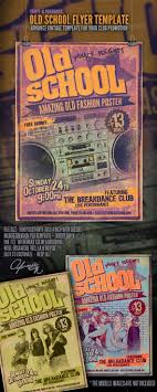 old school flyer template by yaniv k graphicriver old school flyer template clubs parties events