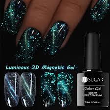 <b>UR SUGAR 7.5ml</b> Luminous Magnetic 3D <b>Cat</b> Eye Nail Gel Polish ...
