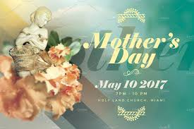 mother s day church flyer template flyer templates on creative mother s day church flyer template flyer templates on creative market