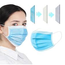 <b>100pcs Mask Disposable Nonwoven</b> 3 Layer Ply Filter Mask mouth ...