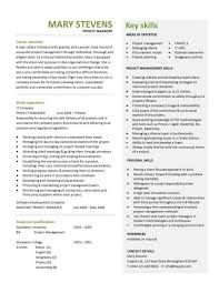 another interview winning project manager cv resume format for it manager