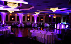 customize the looks of your reception with your own custom colors these are intelligent led lights that are controlled by our lighting software beautiful color table uplighting