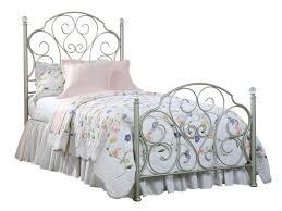 furniture spring rose metal bedroom standard furniture spring rose twin metal bed in white pearlescent