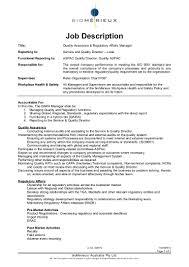 job description qara manager