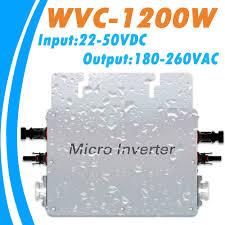 Waterproof MPPT <b>1200W Grid Tie Micro</b> Inverter 22V 50VDC Input ...