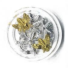 <b>10Pcs</b> Silver <b>Bee</b> Nail Art Decorations 3d Kawaii Animals <b>Charms</b> ...