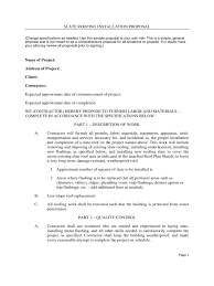 roofing contract template 2 templates in pdf word excel slate roofing installation proposal