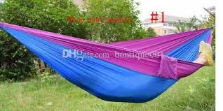 portable nylon single person hammock parachute fabric for travel hiking backpacking camping
