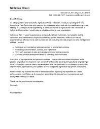 best field technician cover letter examples livecareer edit