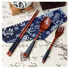 3pcs/Set Bamboo Wooden Cutlery,Vintage Wooden ... - Amazon.com