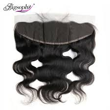 <b>Bigsophy Peruvian</b> Body Wave Closure 13*4 Human <b>Hair</b> Ear To ...