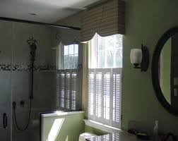 bathroom window shutters shower