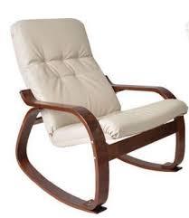 <b>Кресло</b>-<b>качалка</b> кожаное на деревянном <b>каркасе Сайма</b> с пуфом ...