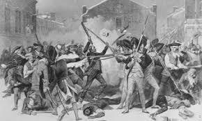 Boston Massacre Black and White picture Ducksters