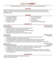 unforgettable security guard resume examples to stand out    security guard resume sample