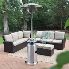 output stainless patio heater: quick view red ember stainless steel commercial patio heater with table